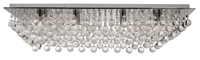 Picture of Hanna 8 Light Chrome Rectangle Flush Complete with Crystal Balls