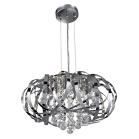 Picture of Chrome 5 Light Pendant - Clear Glass Balls