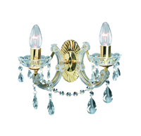 Picture of 2 Light Polished Brass Marie Therese Crystal Wall Bracket