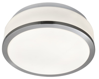 Picture of Satin Silver Flush Fitting with White Glass