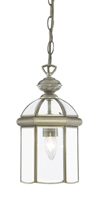 Picture of Antique Brass Glass Domed 1 Light Lantern