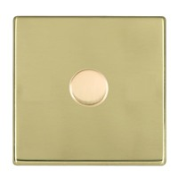 Picture of Hartland Screwless PB/WH 1 Gang 2 WAY 600W Push On/Off Resistive Dimmer