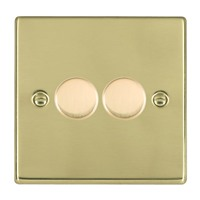 Picture of Hartland PB/WH 2G 2 WAY 400W Resistive Dimmer