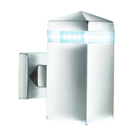 Picture of Satin Silver Square Up Wall Bracket - 32 LEDS