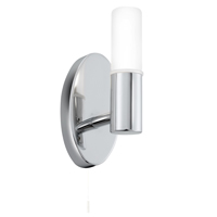 Picture of Chrome 1 Light Wall Bracket - Frosted Glass