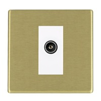 Picture of Hartland Screwless SB/WH 1 Gang TV (Female) DTV Screened Non Isolated Socket