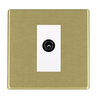 Picture of Hartland Screwless SB/WH 1 Gang TV (Male) DTV Screened Non Isolated Socket