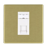 Picture of Hartland Screwless SB/WH 1 Gang RJ12 Outlet - Unshielded Outlet