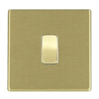 Picture of Hartland Screwless Satin Brass With White Insert