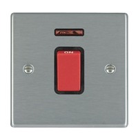 Picture of Hartland SS/BL 1 Gang 45A Double Pole Red + Neon Switch