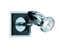 Picture of 1 Light Spot Black/Chrome