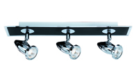 Picture of 3 Light Bar Spot Black/Chrome