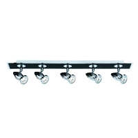Picture of 5 Light Bar Spot Black/Chrome - GU10