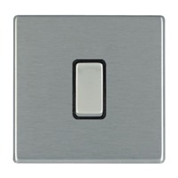 Picture of Hartland Screwless SS/BL 1 Gang 2 WAY 10AX PTM Retractive Rocker Switch