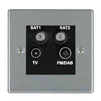 Picture of Hartland SS/BL TV + FM + Satellite + Satellite DTV Screened Non Isolated Socket