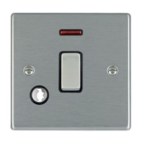 Picture of Hartland SS/BL 1 Gang 20A Double Pole + Neon Switch + Cable Outlet