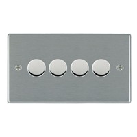 Picture of Hartland SS/WH 4 Gang 2 WAY 400W (Max Wattage per Gang is 300W) Resistive Dimmer