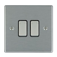 Picture of Hartland SS/BL 2 Gang 2 WAY 10AX Rocker Switch