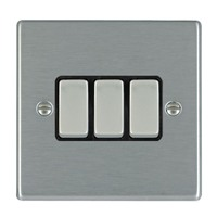 Picture of Hartland SS/BL 3 Gang 2 WAY 10AX Rocker Switch