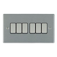 Picture of Hartland SS/BL 6 Gang 2 WAY 10AX Rocker Switch