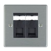 Picture of Hartland SS/BL 2 Gang RJ45 CAT5e Outlet