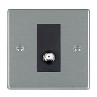 Picture of Hartland SS/BL 1 Gang Non Isolated Satellite Coaxial Socket
