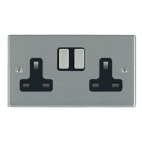 Picture of Hartland SS/BL 2 Gang 13A Switched Socket