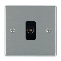 Picture of Hartland SS/BL 1 Gang Non Isolated Television 1 in/1 out Coaxial Socket