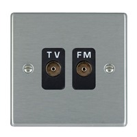 Picture of Hartland SS/BL 2 Gang Isolated TV/FM 1 in/2 out Coaxial Socket