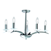 Picture of Chrome 5 Light Fitting