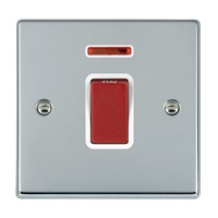 Picture of Hartland BC/WH 1 Gang 45A Double Pole Red Switch + Neon