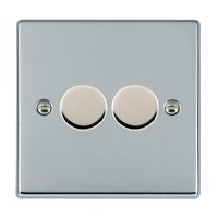 Picture of Hartland BC/WH 2 Gang 2 WAY 400W Resistive Dimmer