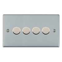 Picture of Hartland BC/WH 4G 2 WAY 400W (Max Wattage per Gang is 300W) Resistive Dimmer