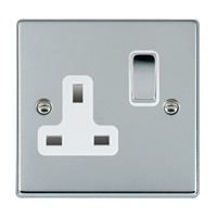 Picture of Hartland BC/WH 1 Gang 13A Switched Socket