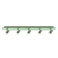 Picture of 5 Light Satin Silver Glass Bar Spotlight
