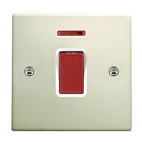 Picture of Hartland PO/WH 1 Gang 45A Double Pole Red Switch