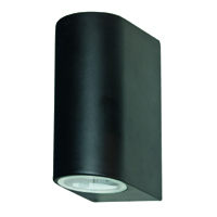 Picture of 2 Light Black Outdoor Wall Bracket