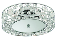 Picture of Polly 3 Light Chrome Beaded Disc Flush Mirror