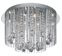 Picture of Beatrix Flush 8-Light Modern Polished Chrome Crystal
