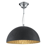 Picture of 38CM Dome Pendant Black and Gold