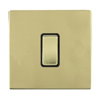 Picture of Sheer Screwless Polished Brass with Black Insert