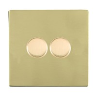 Picture of Sheer Screwless PB/WH 2 Gang 2 WAY 400W Push On/Off Resistive Dimmer