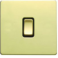 Picture of  Sheer Screwless Polished Brass with Black Inserts