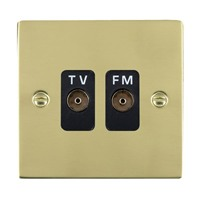 Picture of Sheer PB/BL 2 Gang Isolated TV/FM 1in/2 out
