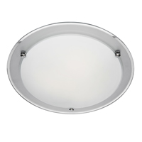 Picture of Flush Fitting with Frosted Glass Plate Finished with Mirror Edges
