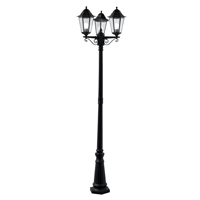 Picture of Outdoor Post Black Finish Cast Aluminium, 2-Light Outdoor Post Lamp