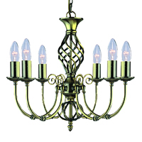 Picture of Zanzibar Antique Brass 6 Light