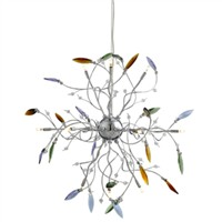 Picture of Chrome 12 Light Pendant - Multi-Colour Drops