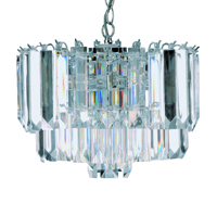 Picture of 4 Light Chrome Clear Acrylic Pendant
