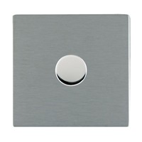 Picture of Sheer Screwless SS/WH 1 Gang 2 WAY 400W Push On/Off Resistive Dimmer